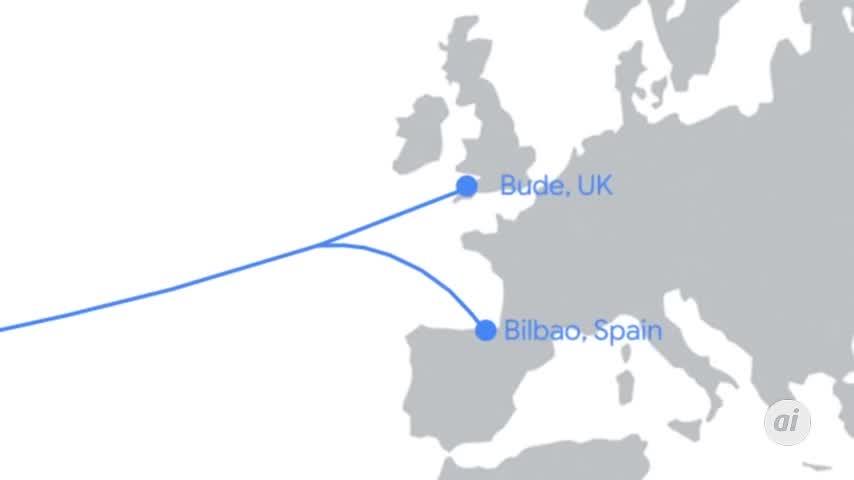 Google desplegará el cable submarino que unirá EEUU, Reino Unido y España