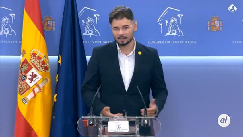 El Gobierno acepta reunir pronto la mesa de Cataluña como pide Rufián