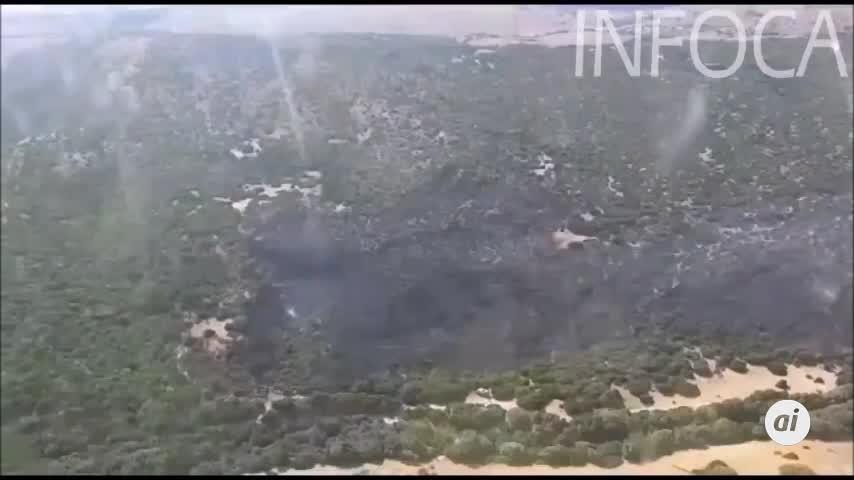 Controlado el incendio forestal en el paraje El Carrascal, en Tarifa