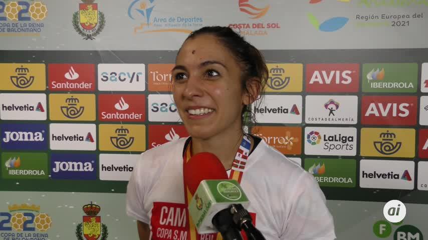 Estela Doiro, mejor jugadora de la final de la Copa de la Reina en Málaga
