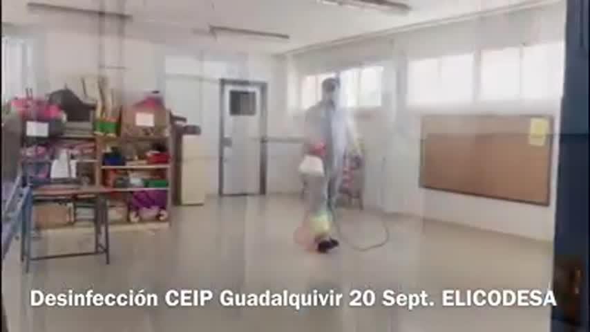 Desinfectan el CEIP Guadalquivir en Sanlúcar tras dos positivos por coronavirus