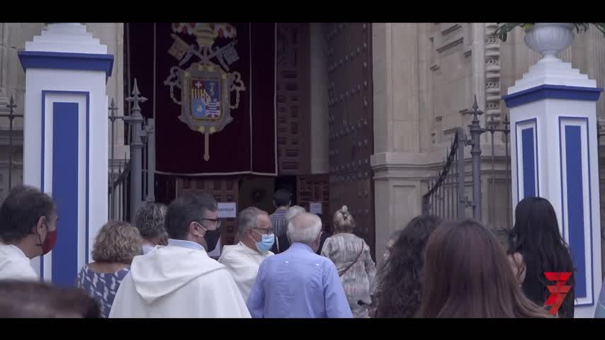 La Merced se erige en anfitriona de una inédita 'procesión de rogativas'