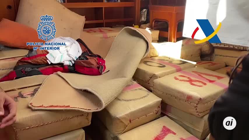 Cae la mayor red de tráfico de hachís de España, con 35 toneladas intervenidas