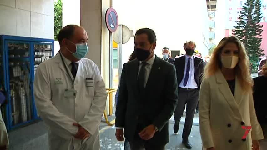 Moreno visita en Cádiz varias obras que se desarrollan en el Puerta del Mar