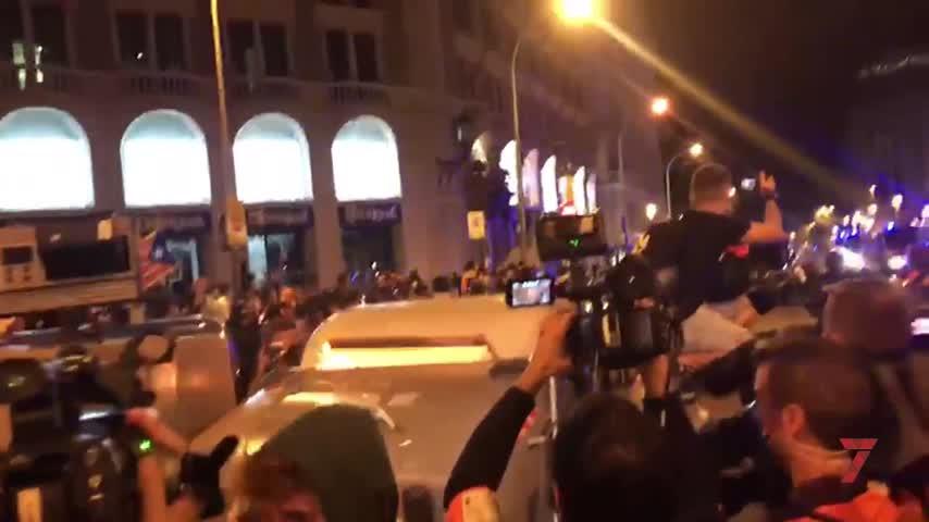La protesta de los CDR en el tercer aniversario del 1-O acaba con 15 detenidos