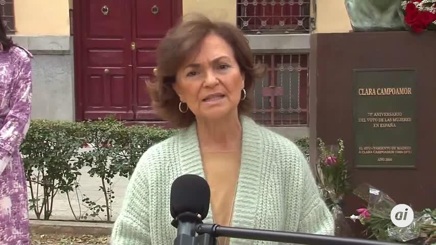 Carmen Calvo critica la