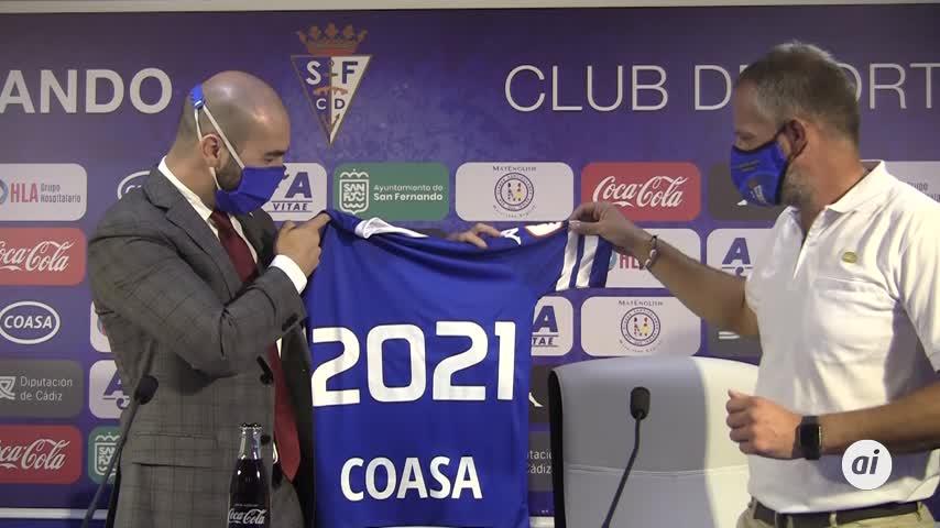 Coasa renueva su patrocinio por tercera temporada con el San Fernando CD
