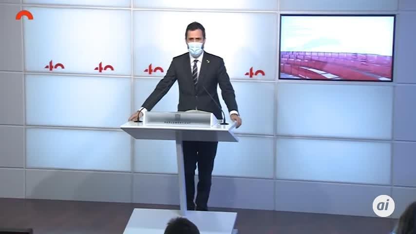 Parlament cierra ronda de consultas sin candidato a presidencia Generalitat