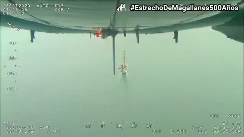 ¡Viva Chile! ¡Viva España! El JS de Elcano llega al Estrecho de Magallanes