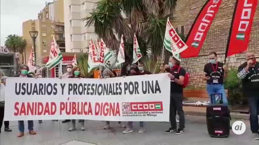 Nueva jornada de protesta en Málaga contra el abandono de la sanidad pública