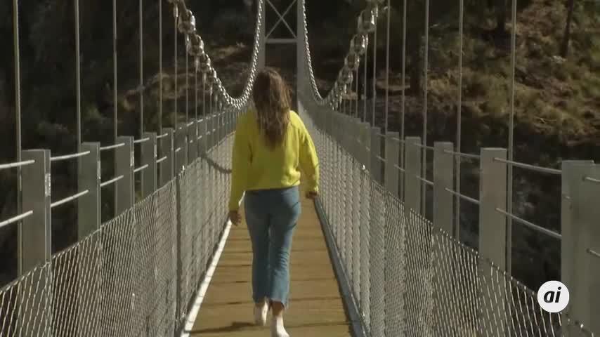 Abre el otro Caminito del Rey, uno de los mayores puentes colgantes del país