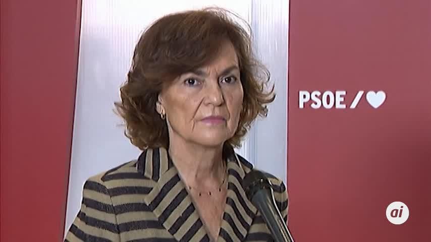 Carmen Calvo recuerda que el PP también pactó con Bildu y Vox