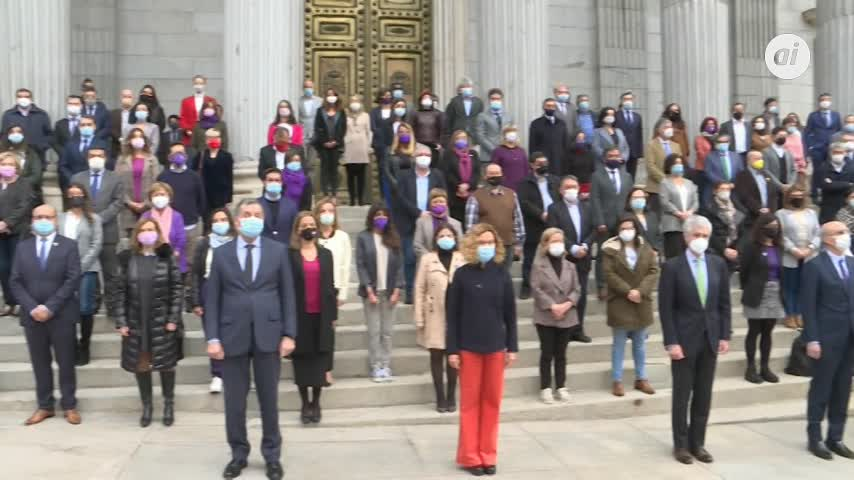 Congreso y Senado se suman al minuto de silencio por las víctimas del machismo
