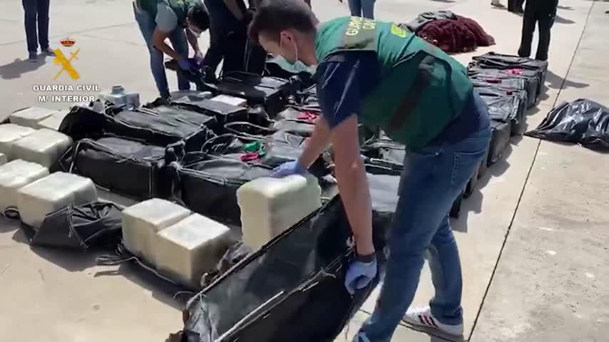 La Guardia Civil participa en la mayor operación internacional contra el narcotráfico
