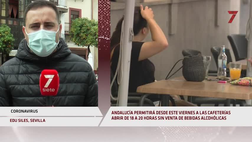 Las cafeterías de Andalucía pueden abrir de 6 a 8 de la tarde pero sin vender alcohol