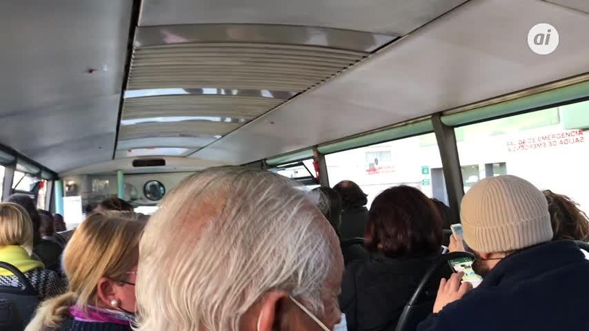 De un acelerón -y frenazo- en un autobús interurbano que por poco termina en tragedia