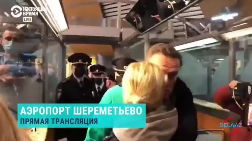 El líder opositor ruso Alexéi Navalni, detenido nada más poner un pie en Rusia