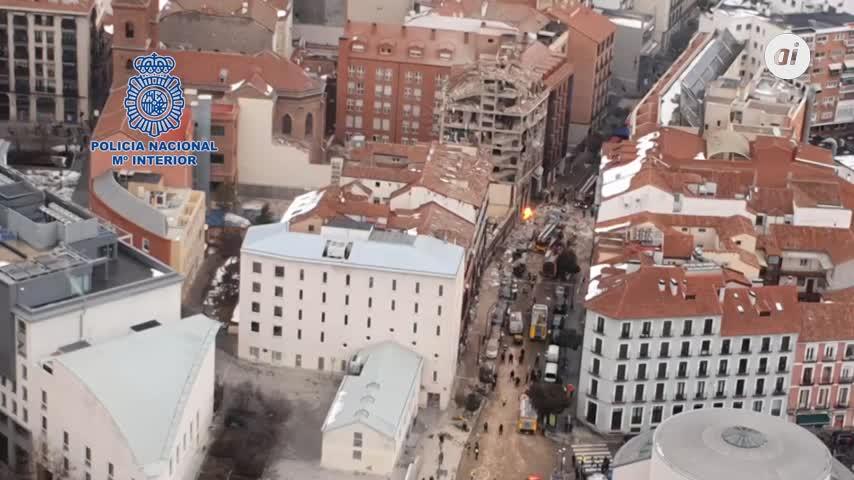 Tres fallecidos y 11 heridos en el explosión de la calle Toledo en Madrid
