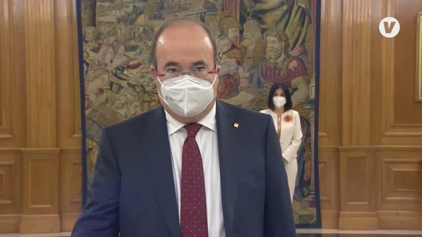 Carolina Darias e Iceta prometen sus cargos ante Felipe VI en la Zarzuela