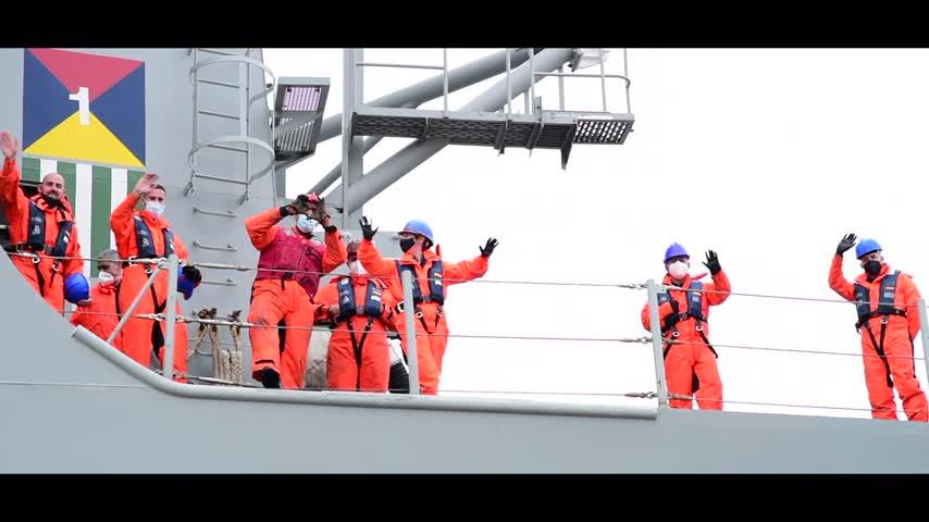 El buque de asalto anfibio 'Castilla' se incorpora a la Operación Atalanta