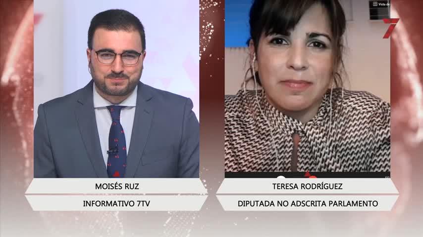 Teresa Rodríguez lamenta que elParlamento le dé un despacho a la Falange