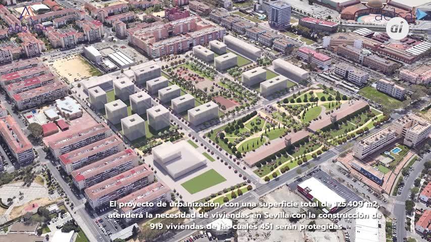 Medio siglo en Alcosa: nuevas viviendas, hoteles, zonas comerciales y geriátricos
