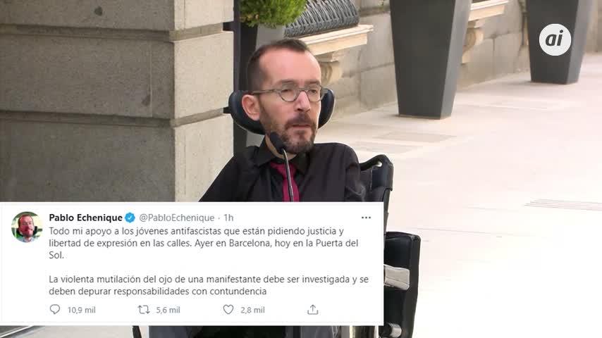 Echenique respalda las protestas en apoyo a Pablo Hasel