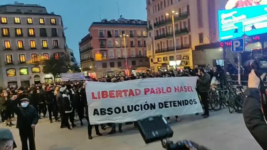 Quinta jornada de protestas en España en defensa del rapero Pablo Hasél