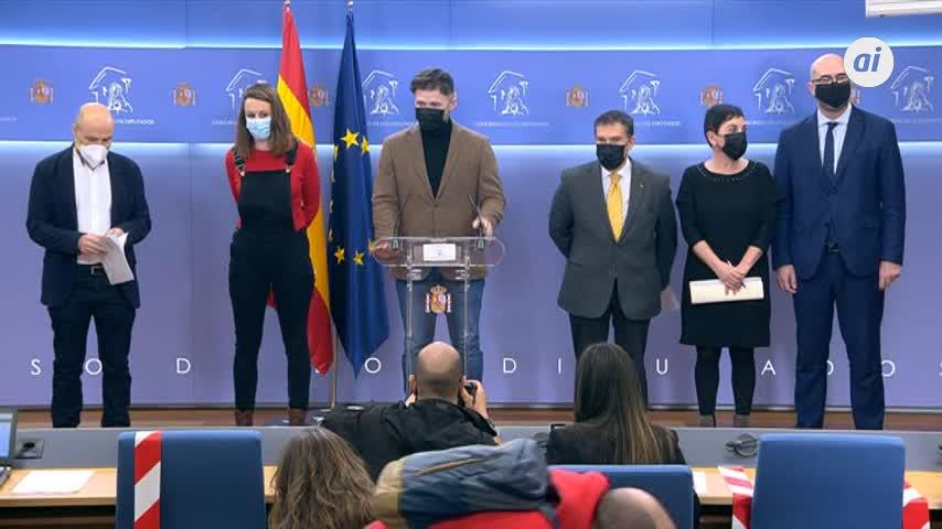 ERC, Bildu, Junts, PDeCAT, BNG y CUP 'plantan' al Rey el 23F
