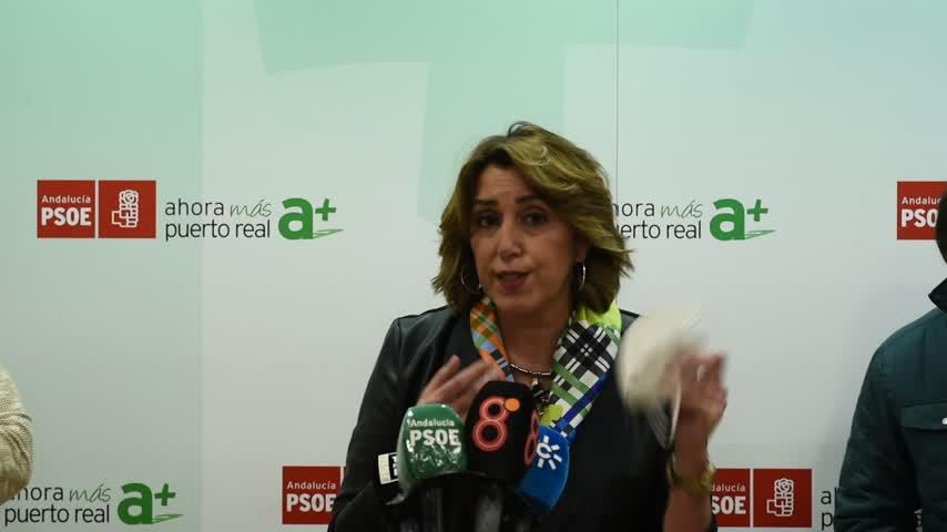 Susana Díaz insta a laJunta a implicarse en salvar la planta de Airbus en Puerto Real