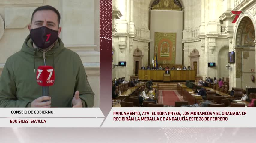 El Parlamento, Los Morancos, Pepe de Lucía y Granada CF, Medallas de Andalucía