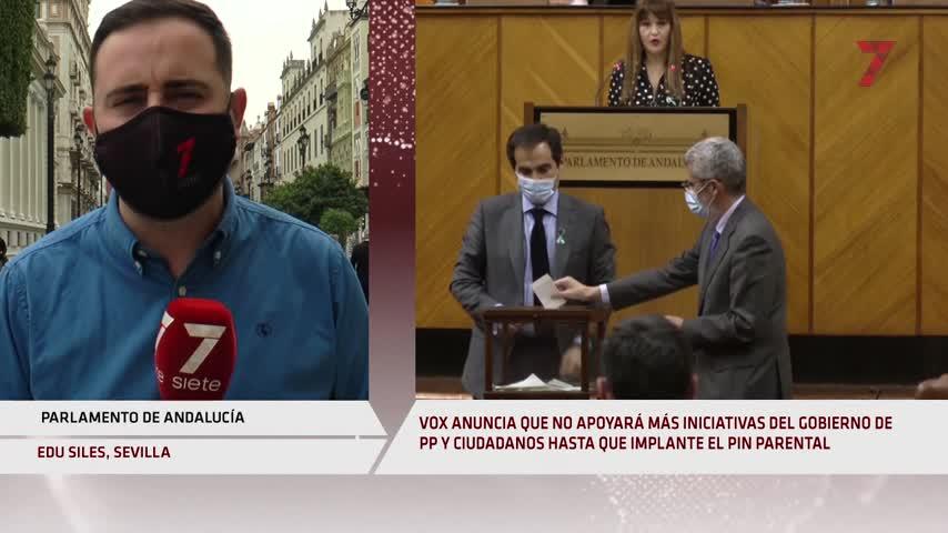 Vox da otro ultimátum al Gobierno de PP y Cs en Andalucía