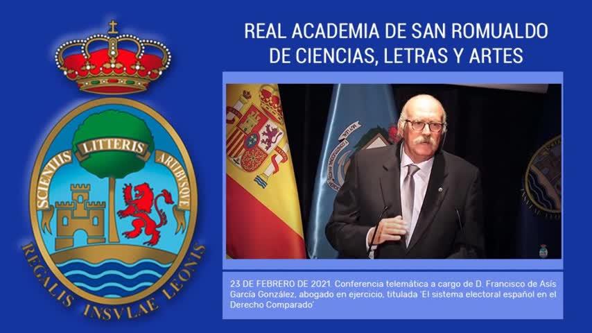 'El sistema electoral español en el Derecho Comparado' en la Academia de San Romualdo