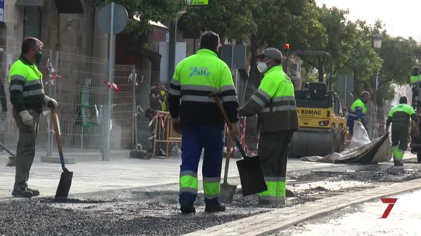 Comienzan las tareas de asfaltado definitivo de la calle Corredera