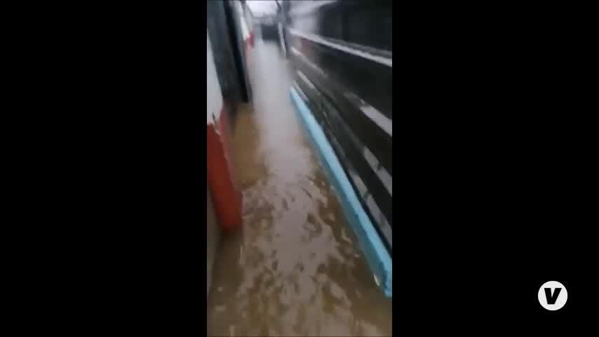 Inundaciones y cortes de carreteras en el Campo de Gibraltar debido a las intensas lluvias