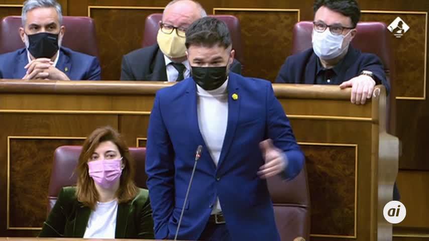 Sánchez critica a Rufián que califique de