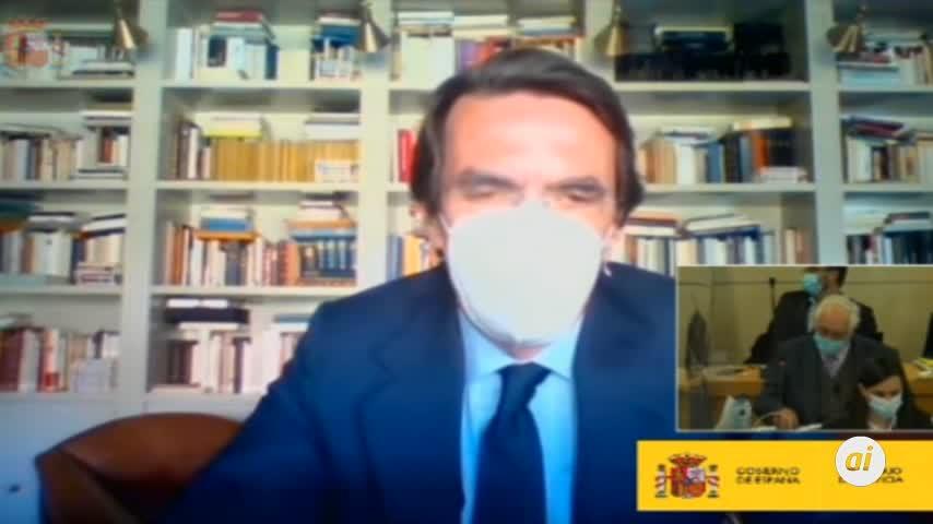 Aznar niega haber recibido sobresueldos ante el tribunal de la Caja B