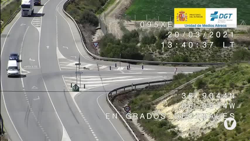 18 infracciones detectadas por los drones de la DGT en la provincia de Sevilla