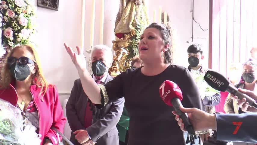 Carmen Grilo dedica su saeta a la Esperanza de la Yedra en Jerez