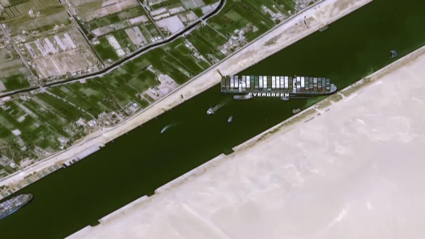 Canal de Suez pedirá 850 millones en compensación tras el bloqueo del 'Ever Given'