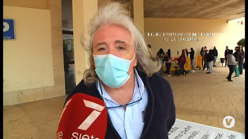 Un empresario de La Línea damnificado por unas obras comienza una huelga de hambre