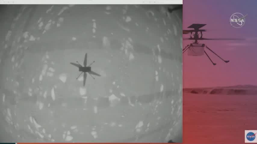 El helicóptero Ingenuity de la NASA hace historia al volar en Marte