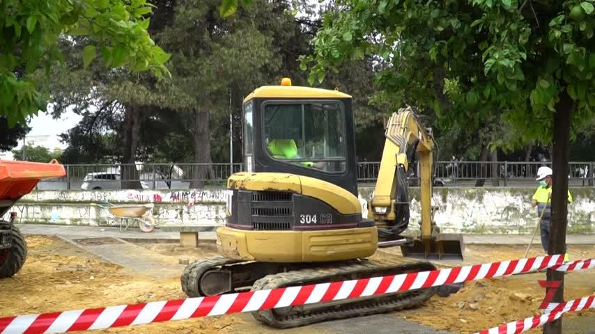 Obras de mejora en los viales posteriores a la ermita de San Telmo