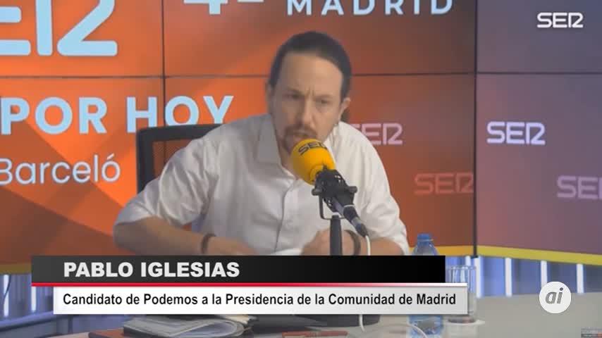 Iglesias abandona un debate radiofónico tras un enfrentamiento con Monasterio