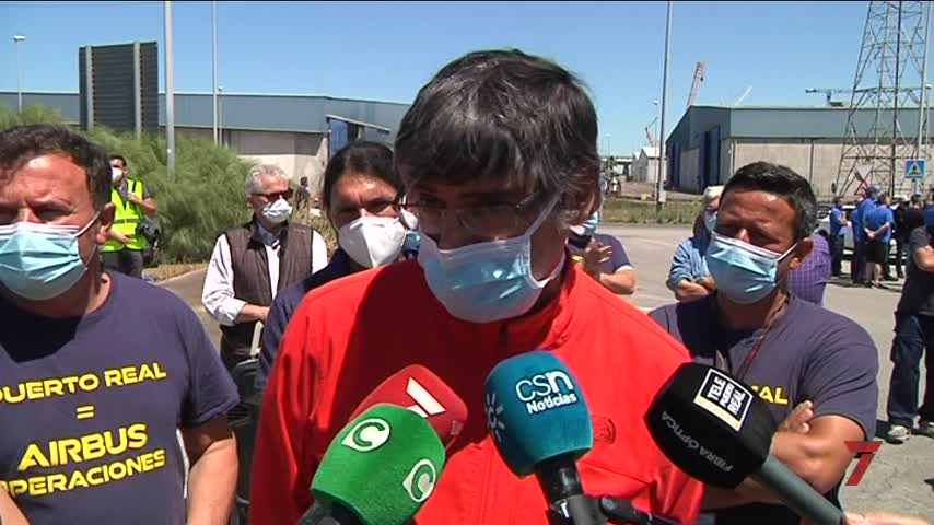 """Una nueva protesta para reivindicar el """"enorme potencial"""" de Airbus Puerto Real"""
