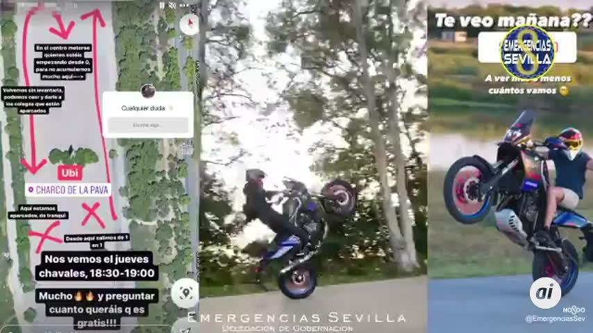 La Policía aborta una carrera ilegal de motos convocada en Sevilla