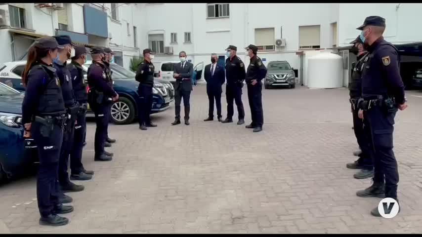 El subdelegado del Gobierno ofrece su apoyo en La Línea a Policía Nacional y Guardia Civil