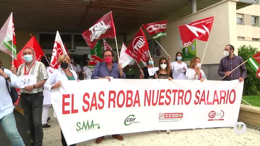 Respaldo en Algeciras a las movilizaciones por los impagos del SAS
