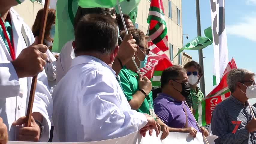 Protestas en Jerez para reclamar  al SAS el pago íntegro de la productividad de 2019