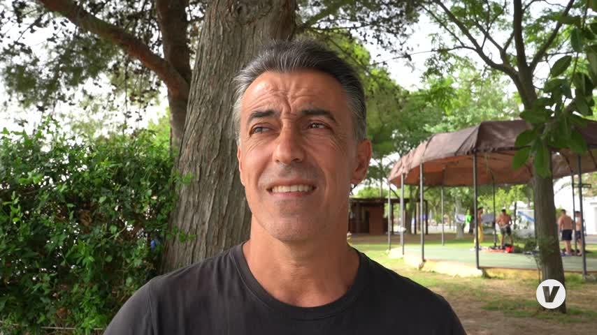 El delegado de Deportes de Arcos de la Frontera analiza el torneo de kayak polo en Arcos